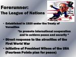 forerunner the league of nations