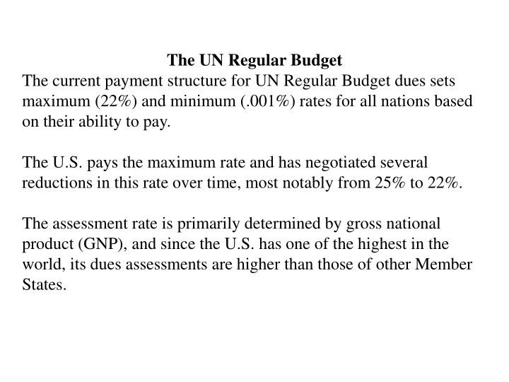 The UN Regular Budget