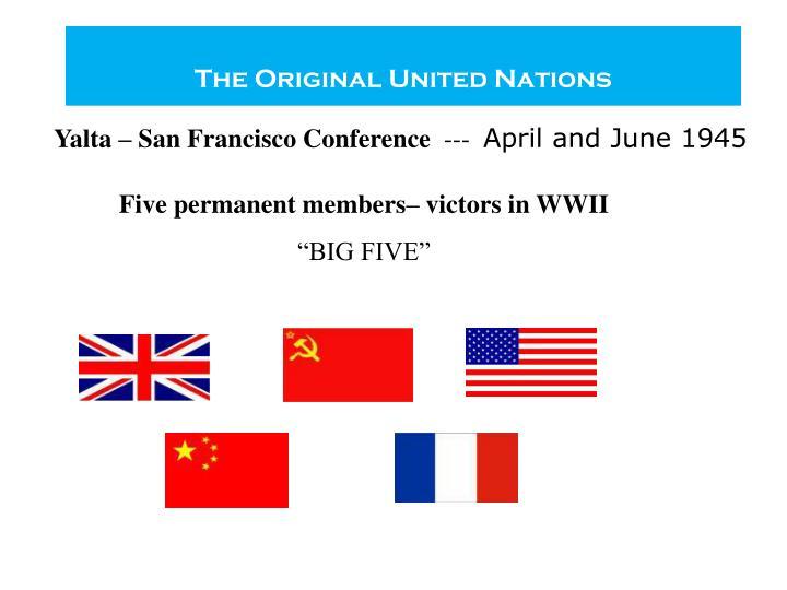 The Original United Nations