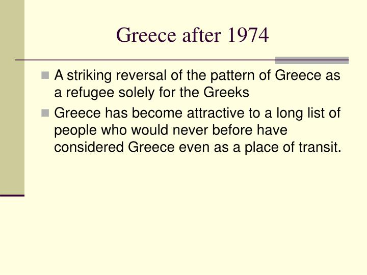 Greece after 1974