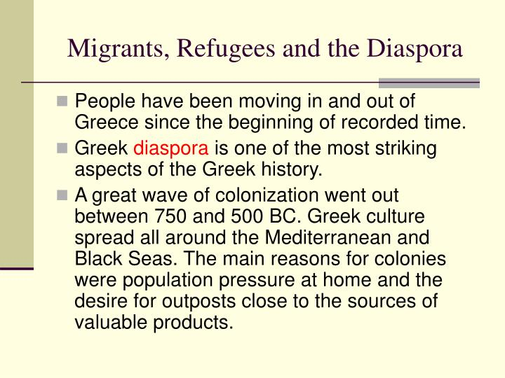 Migrants, Refugees and the Diaspora