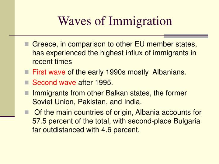 Waves of Immigration