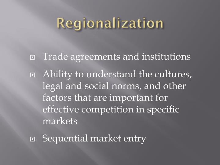 Regionalization