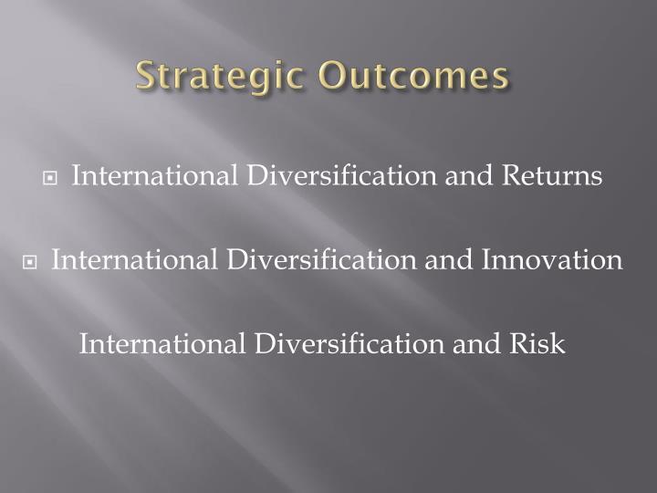 Strategic Outcomes