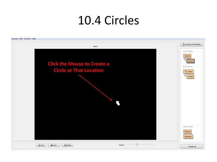10.4 Circles