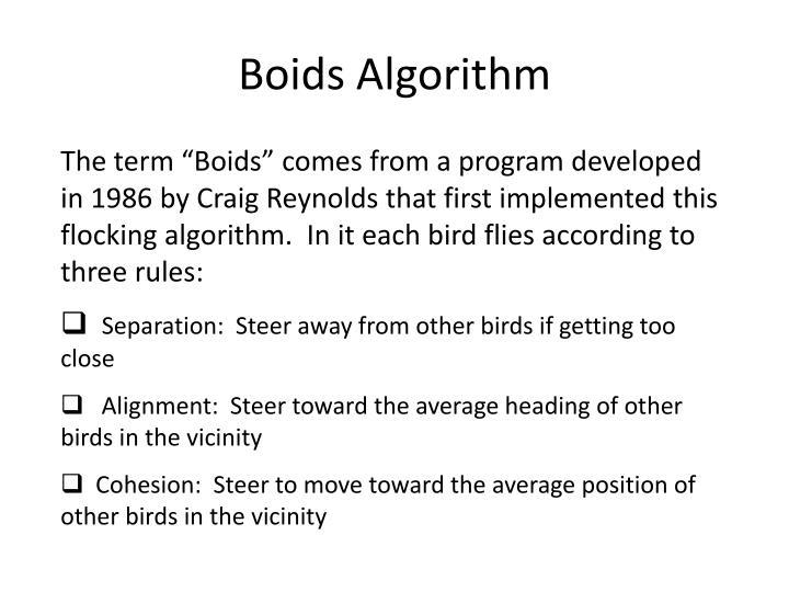Boids Algorithm