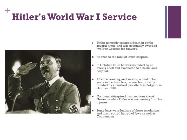 Hitler's World War I Service