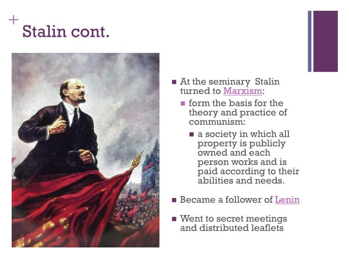Stalin cont.