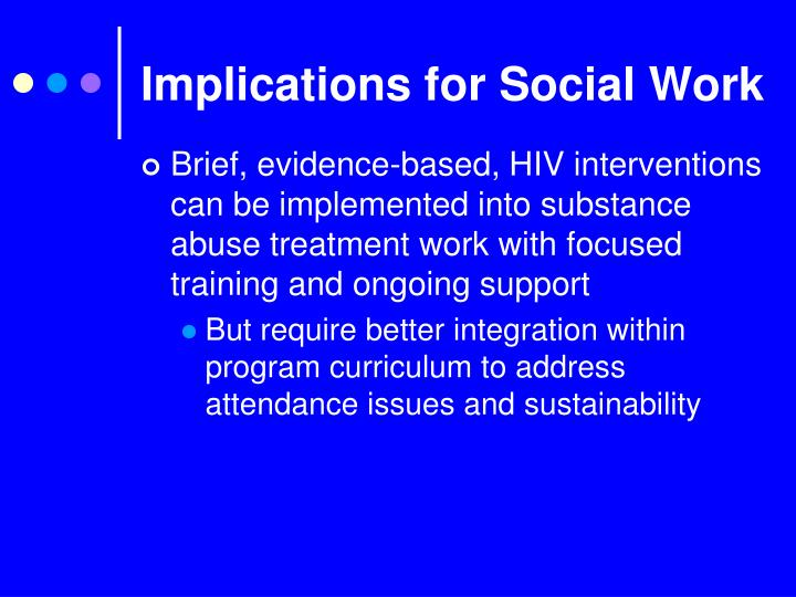 Implications for Social Work