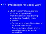 implications for social work2