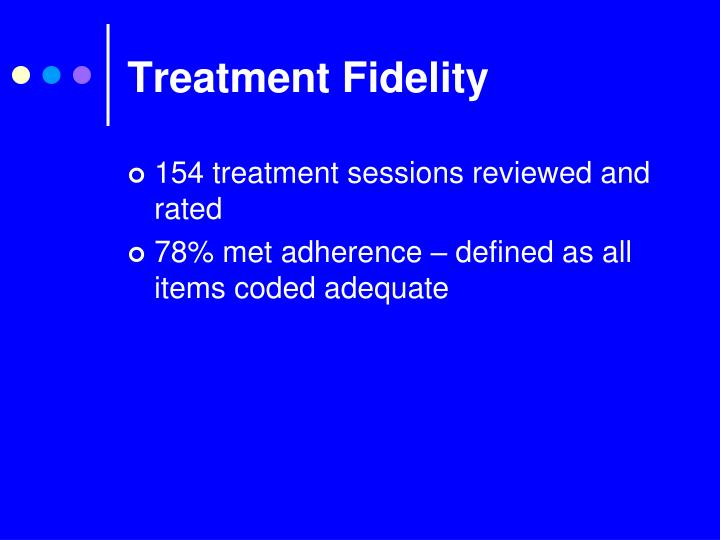Treatment Fidelity