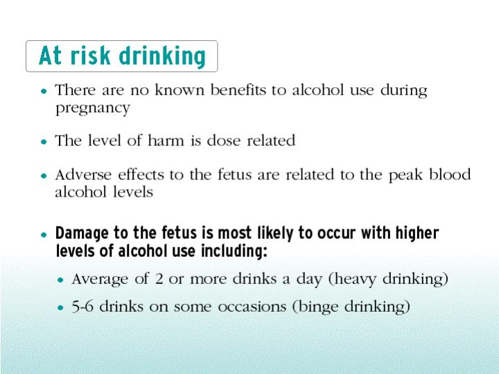 At risk drinking