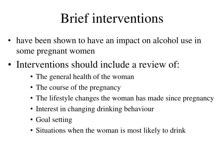 Brief interventions