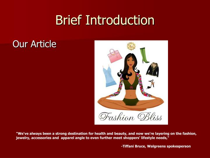 Brief Introduction