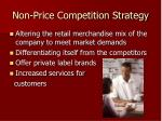 non price competition strategy