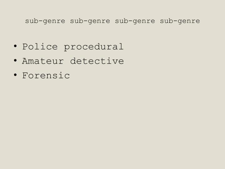 sub-genre