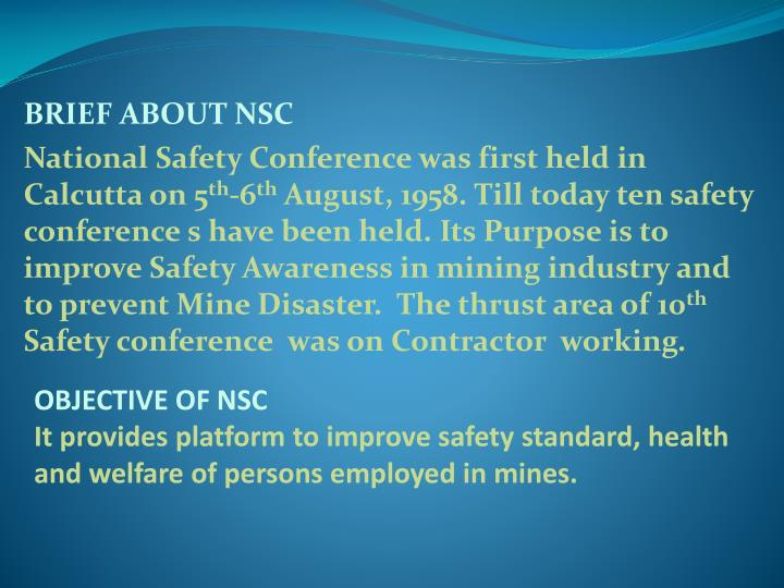 BRIEF ABOUT NSC