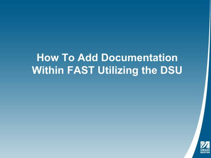 How To Add Documentation