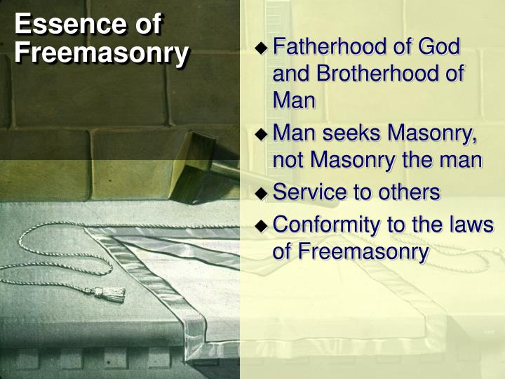 Essence of freemasonry