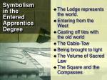 symbolism in the entered apprentice degree