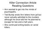 killer connection article reading questions3