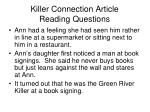 killer connection article reading questions6
