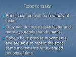 robotic tasks