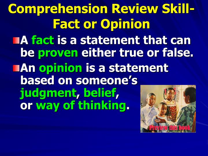 Comprehension Review Skill-