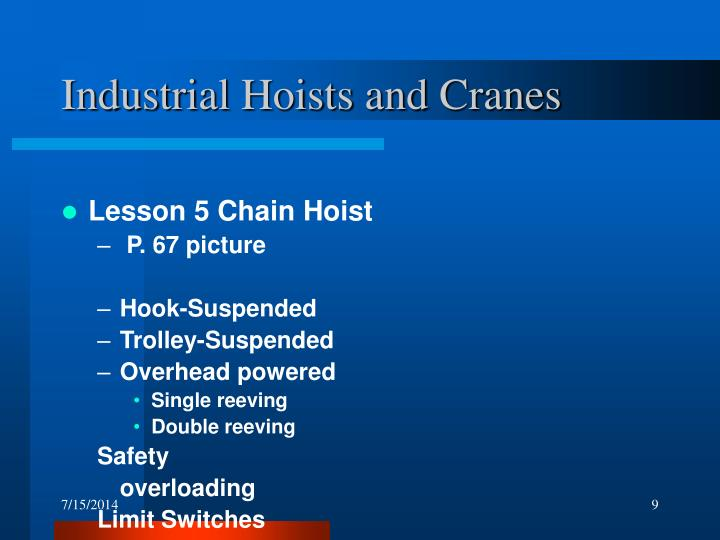 Industrial Hoists and Cranes