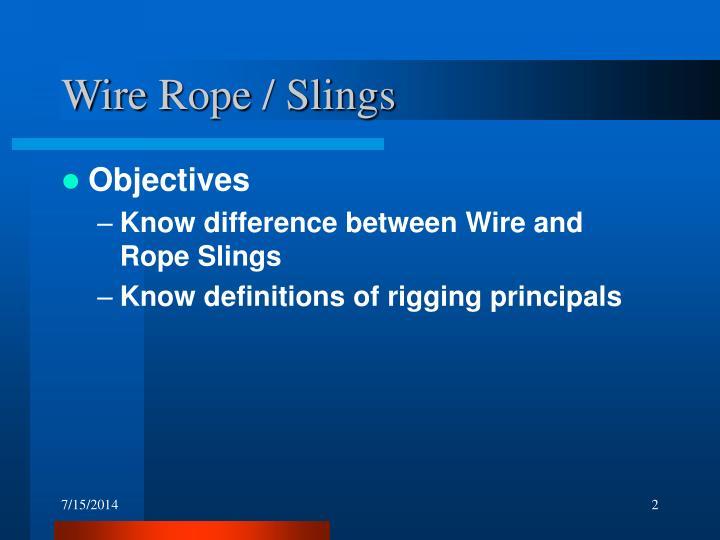 Wire Rope / Slings