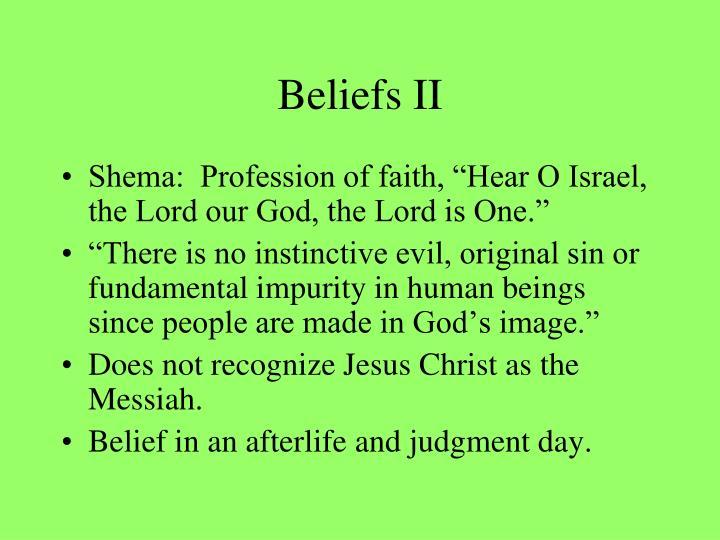 Beliefs II