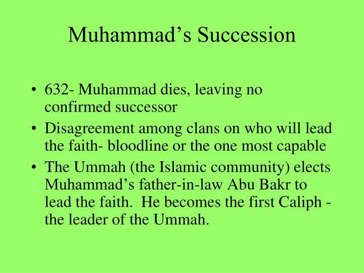 Muhammad's Succession