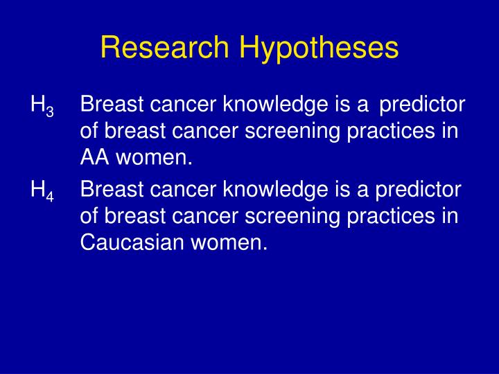 Research Hypotheses