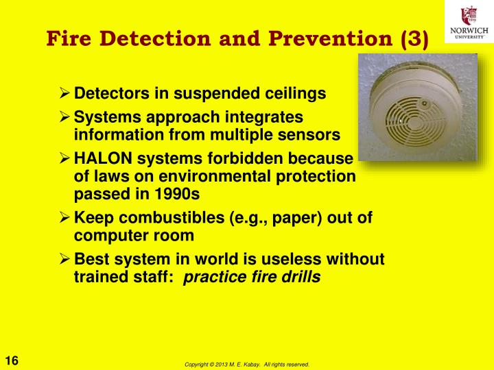 Fire Detection and Prevention