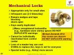 mechanical locks