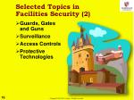 selected topics in facilities security 2