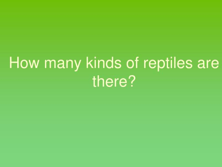 How many kinds of reptiles are there