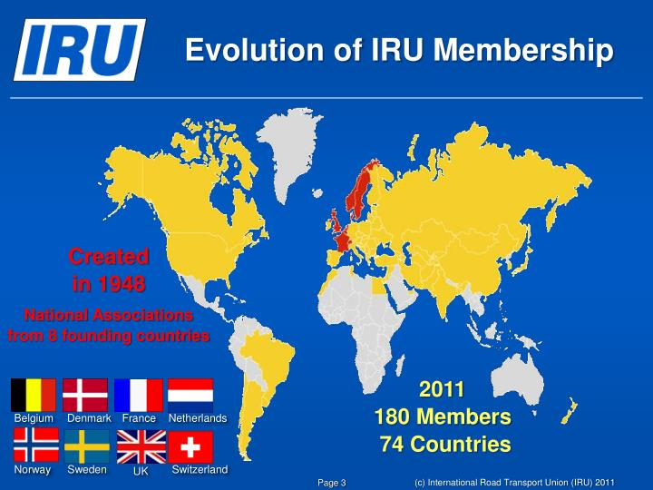 Evolution of IRU