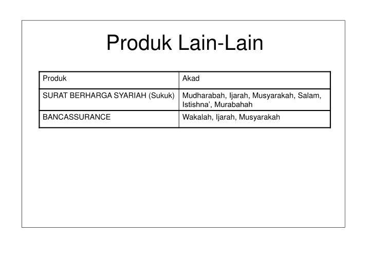 Produk Lain-Lain