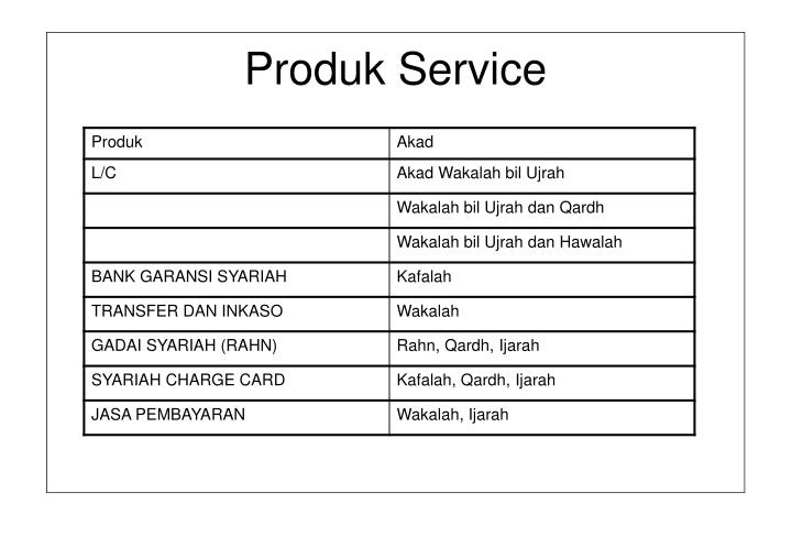 Produk Service