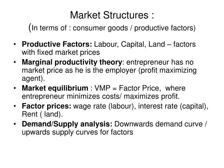Market Structures :