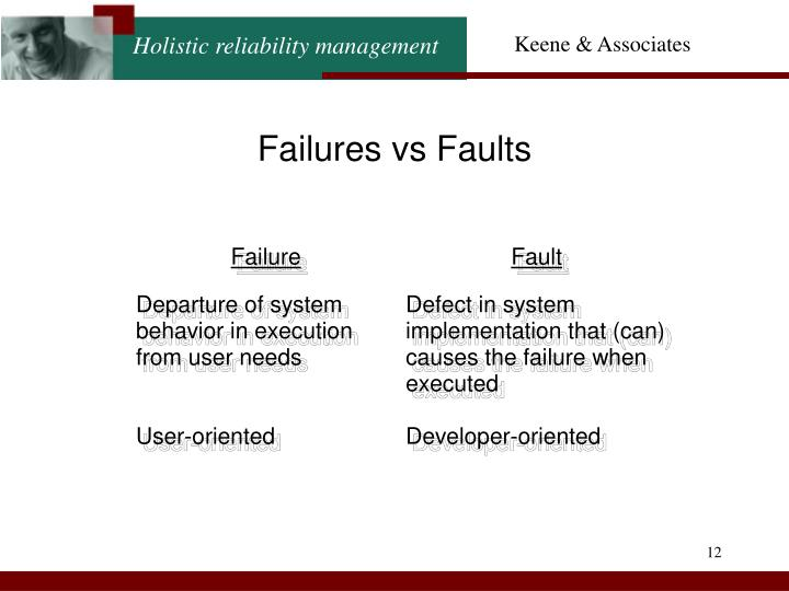 Failures vs Faults