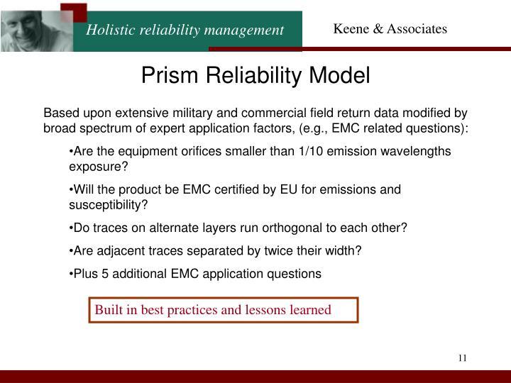 Prism Reliability Model