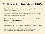 2 war with austria 1866