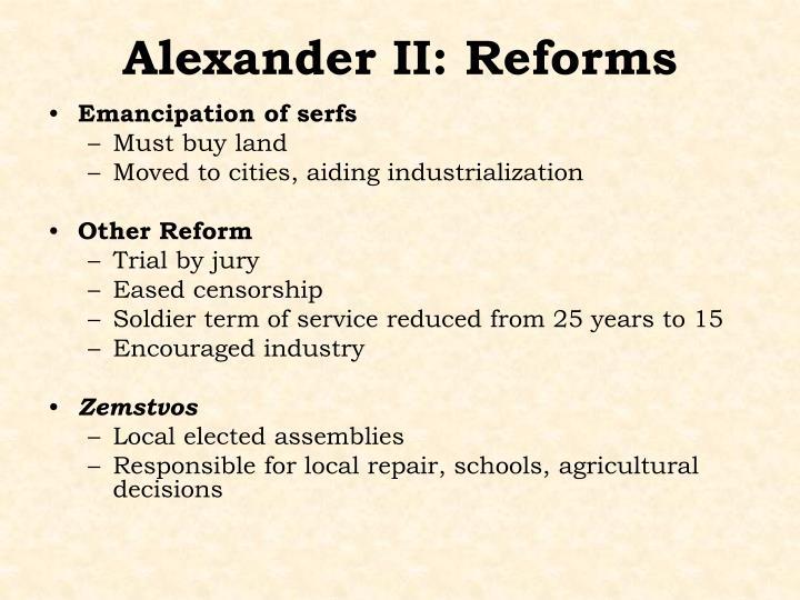 Alexander II: Reforms
