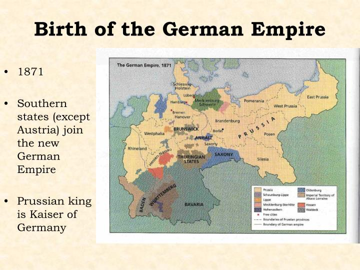 Birth of the German Empire