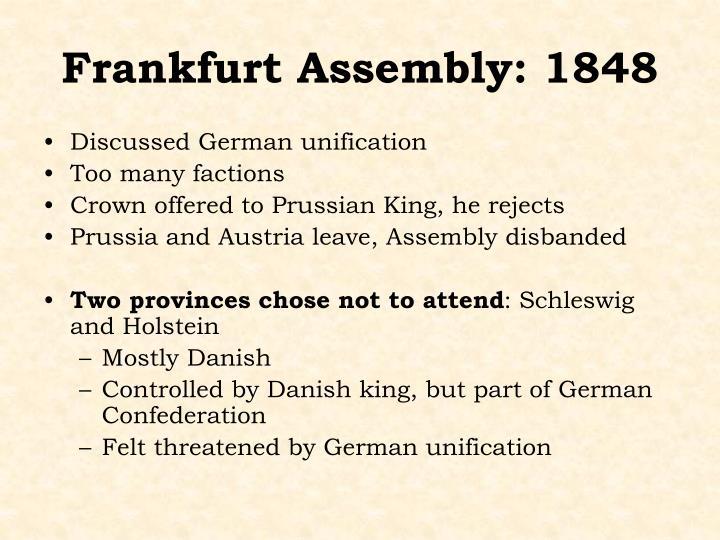 Frankfurt Assembly: 1848