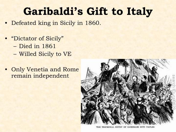 Garibaldi's Gift to Italy