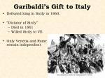garibaldi s gift to italy
