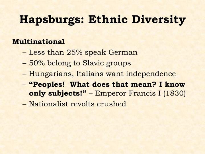 Hapsburgs: Ethnic Diversity